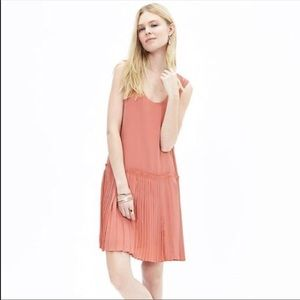 Banana Republic Pleated Drop Waist Dress